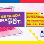 Rezagados podrán inscribirse a la Prueba de Transición del 5 al 23 de agosto